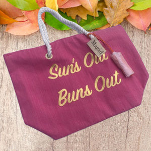 Straw Beach Tote Bag Rope Strap Pink Handbag Large